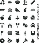 solid black flat icon set paint ... | Shutterstock .eps vector #1199208115