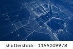 architecture design  blueprint...   Shutterstock . vector #1199209978