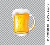 craft beer with foam in big... | Shutterstock .eps vector #1199211148