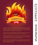 grill barbeque party poster... | Shutterstock .eps vector #1199211172