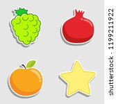 set of cute little fruit icon...