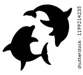 dolphins for design and tattoo... | Shutterstock . vector #1199214235