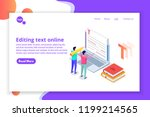 editable online document.... | Shutterstock .eps vector #1199214565