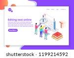 editable online document.... | Shutterstock .eps vector #1199214592