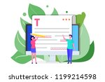 editable online document.... | Shutterstock .eps vector #1199214598