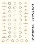 vintage set exclusive borders... | Shutterstock .eps vector #1199215645