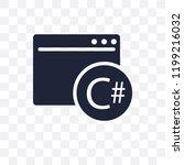 c sharp transparent icon. c... | Shutterstock .eps vector #1199216032