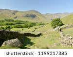 crinkle crags at head of... | Shutterstock . vector #1199217385