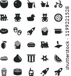 solid black flat icon set baby... | Shutterstock .eps vector #1199221528