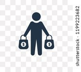 buyer vector icon isolated on... | Shutterstock .eps vector #1199223682