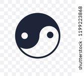 yin yang transparent icon. yin... | Shutterstock .eps vector #1199223868