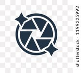 shutter vector icon isolated on ... | Shutterstock .eps vector #1199225992