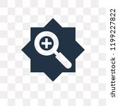 zoom in vector icon isolated on ... | Shutterstock .eps vector #1199227822