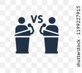 debate vector icon isolated on... | Shutterstock .eps vector #1199227915