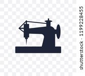 old sewing machine transparent... | Shutterstock .eps vector #1199228455