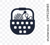 sewing basket transparent icon. ... | Shutterstock .eps vector #1199228485
