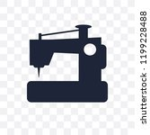 new sewing machine transparent... | Shutterstock .eps vector #1199228488