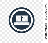 upload vector icon isolated on...   Shutterstock .eps vector #1199229298