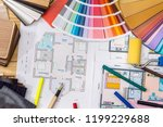 construction concept  plan  ... | Shutterstock . vector #1199229688