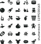 solid black flat icon set... | Shutterstock .eps vector #1199230165
