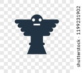 totem vector icon isolated on... | Shutterstock .eps vector #1199231902