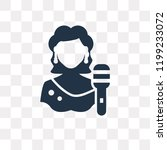singer vector icon isolated on...   Shutterstock .eps vector #1199233072
