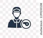 policeman vector icon isolated...   Shutterstock .eps vector #1199233138