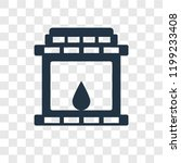fireplace vector icon isolated... | Shutterstock .eps vector #1199233408