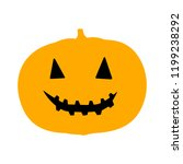 halloween concept icon. simple... | Shutterstock .eps vector #1199238292