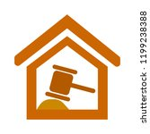 court symbol icon. simple... | Shutterstock .eps vector #1199238388