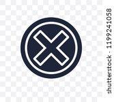 close transparent icon. close... | Shutterstock .eps vector #1199241058
