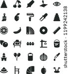 solid black flat icon set paint ... | Shutterstock .eps vector #1199242138