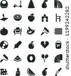 solid black flat icon set baby... | Shutterstock .eps vector #1199242282