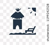 hut vector icon isolated on... | Shutterstock .eps vector #1199242528