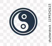 yin yang vector icon isolated... | Shutterstock .eps vector #1199242615