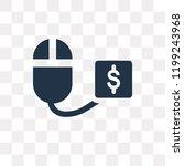 pay per click vector icon... | Shutterstock .eps vector #1199243968