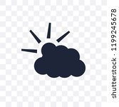 cloudy day transparent icon.... | Shutterstock .eps vector #1199245678