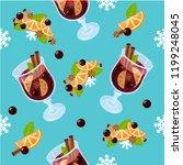 mulled wine seamless pattern....   Shutterstock .eps vector #1199248045