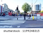 blurred of tourists waiting for ...   Shutterstock . vector #1199248315