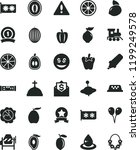 solid black flat icon set... | Shutterstock .eps vector #1199249578