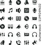 solid black flat icon set bell... | Shutterstock .eps vector #1199249632