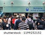 singapore   june 13 2018  many... | Shutterstock . vector #1199252152