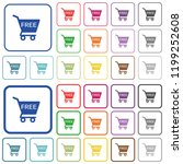 free shopping cart color flat... | Shutterstock .eps vector #1199252608