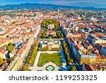 zagreb historic city center... | Shutterstock . vector #1199253325
