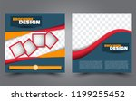 square flyer template. simple... | Shutterstock .eps vector #1199255452