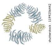fern frond herbs  tropical... | Shutterstock .eps vector #1199256442