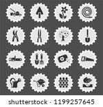 landscape design web icons... | Shutterstock .eps vector #1199257645