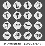 joinery web icons stylized... | Shutterstock .eps vector #1199257648