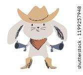western bunny baby cute print.... | Shutterstock .eps vector #1199257948