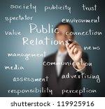 business man writing public... | Shutterstock . vector #119925916